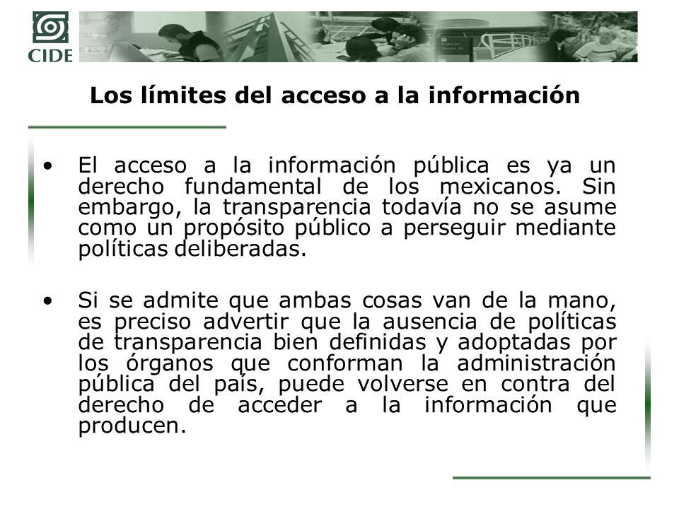Los límites del acceso a la información