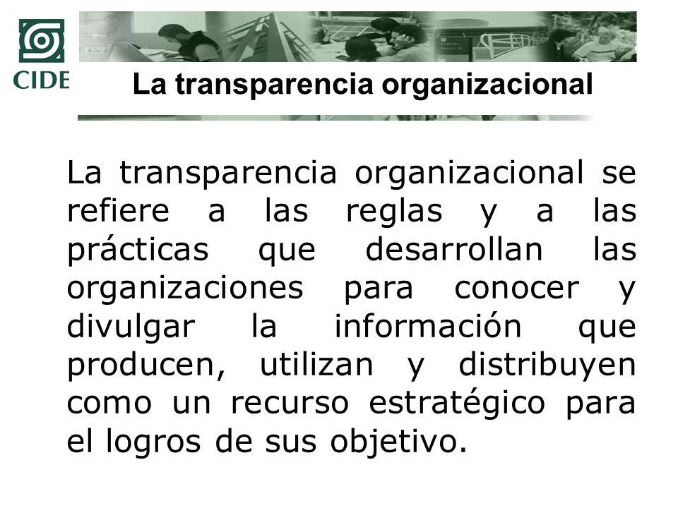 La transparencia organizacional