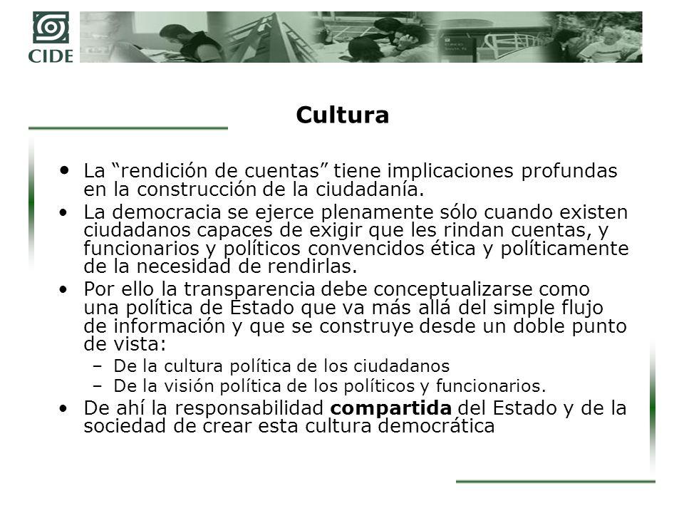 Cultura La rendición de cuentas tiene implicaciones profundas en la construcción de la ciudadanía.