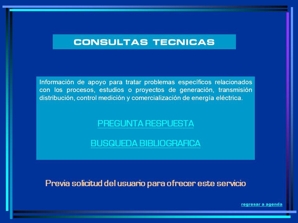 CONSULTAS TECNICAS PREGUNTA RESPUESTA BUSQUEDA BIBLIOGRAFICA