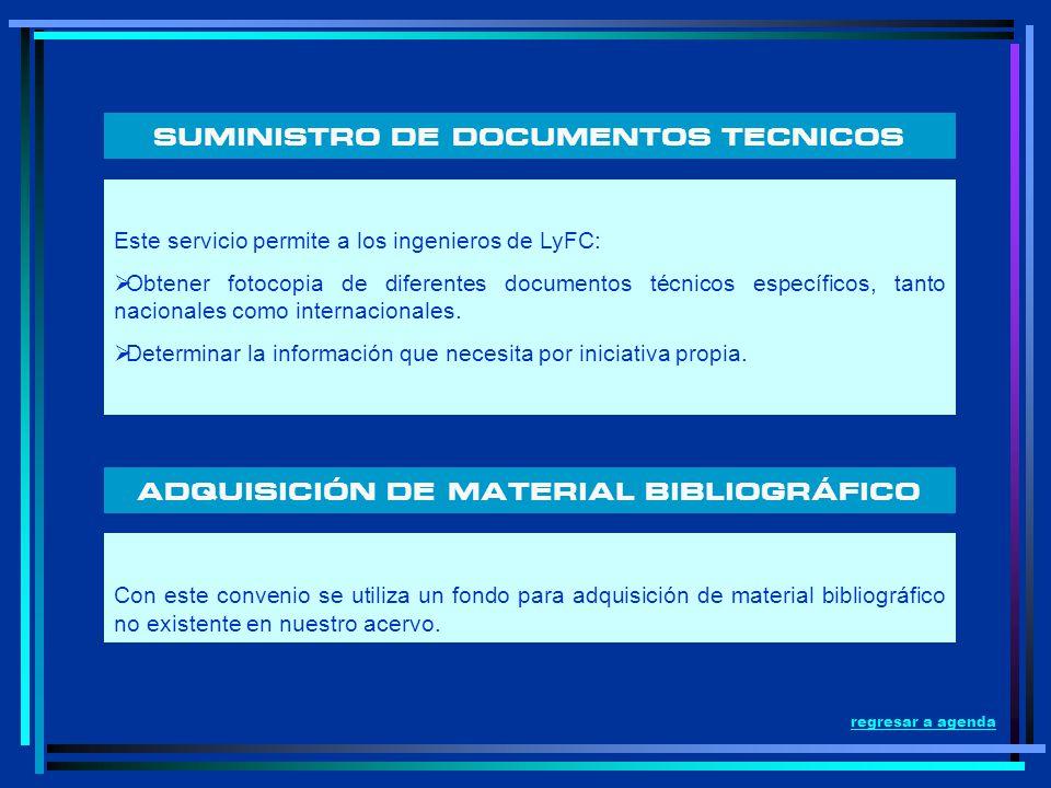 SUMINISTRO DE DOCUMENTOS TECNICOS