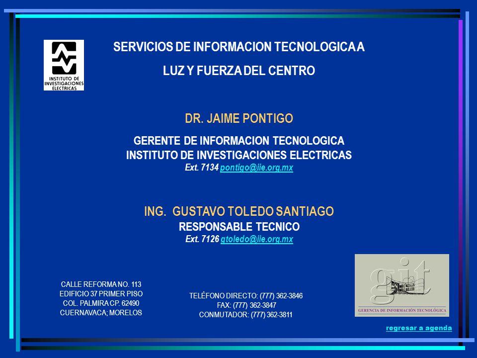 SERVICIOS DE INFORMACION TECNOLOGICA A LUZ Y FUERZA DEL CENTRO