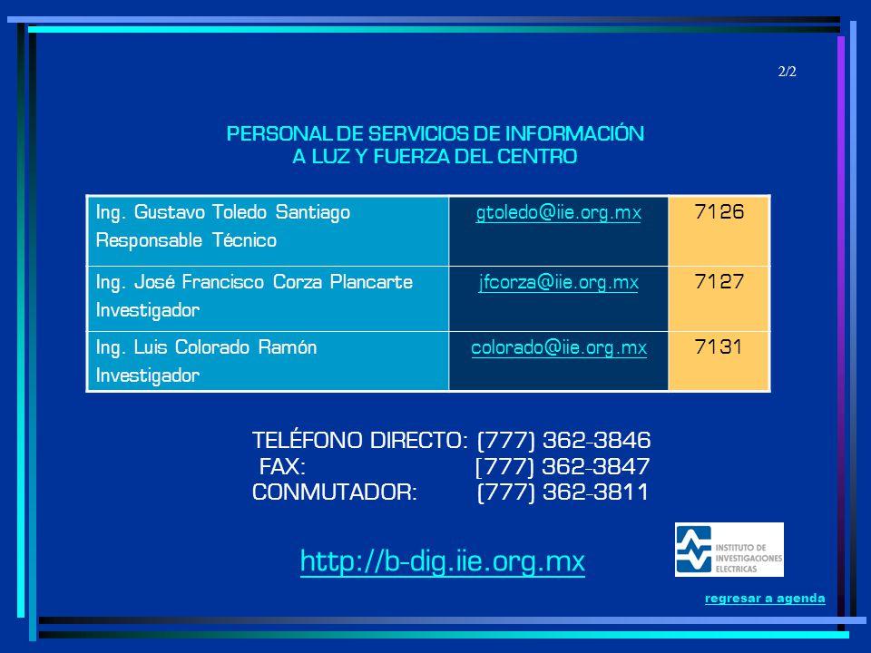 PERSONAL DE SERVICIOS DE INFORMACIÓN A LUZ Y FUERZA DEL CENTRO