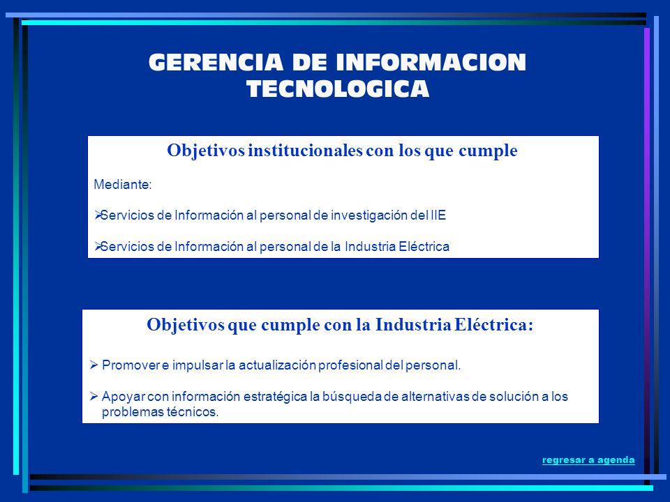 GERENCIA DE INFORMACION TECNOLOGICA