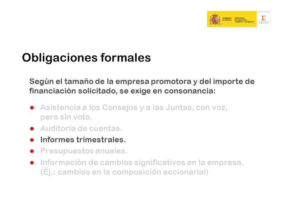 Obligaciones formales