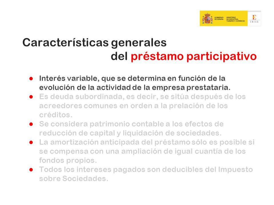 Características generales del préstamo participativo
