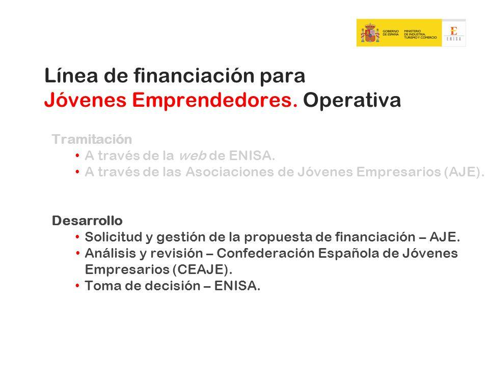 Línea de financiación para Jóvenes Emprendedores. Operativa