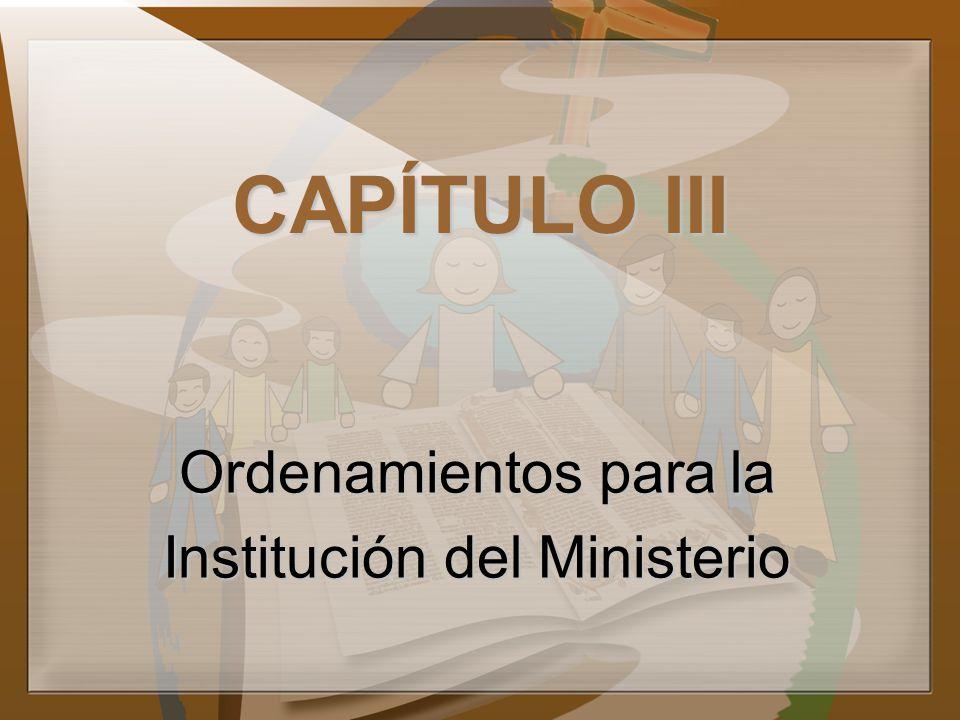 Institución del Ministerio