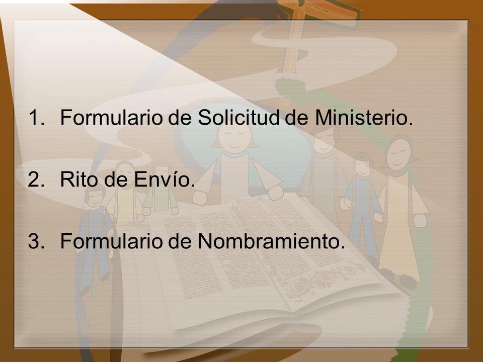Formulario de Solicitud de Ministerio.