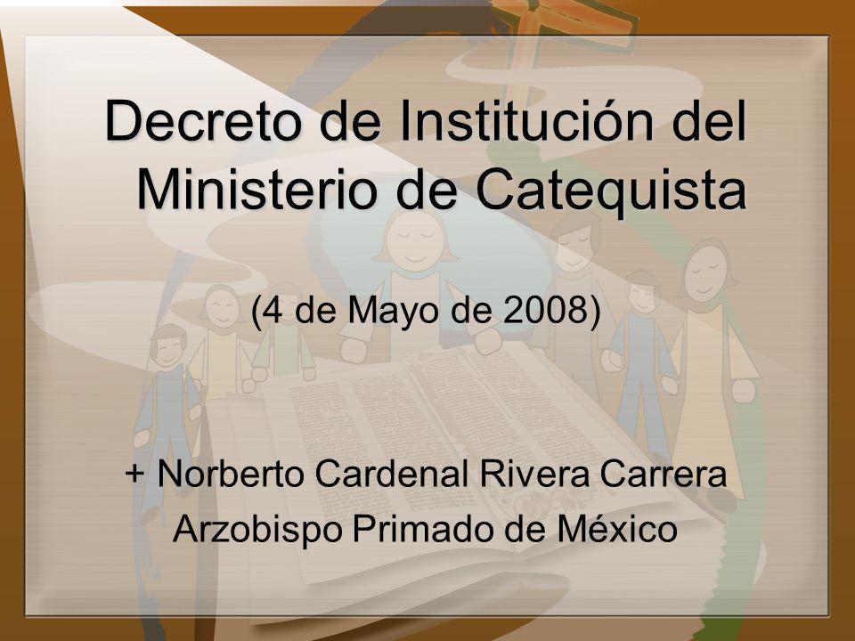 Decreto de Institución del Ministerio de Catequista