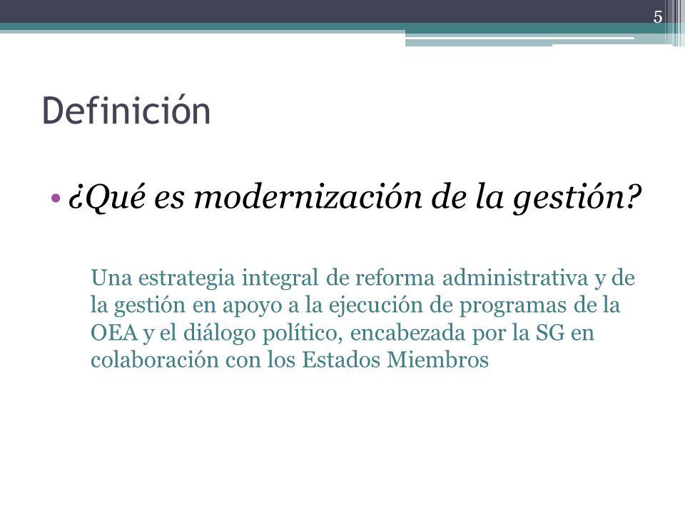 Definición ¿Qué es modernización de la gestión