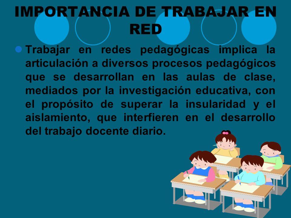 IMPORTANCIA DE TRABAJAR EN RED