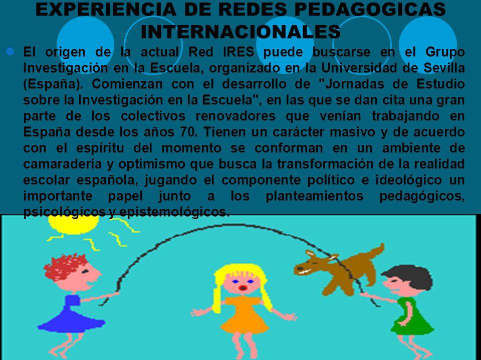 EXPERIENCIA DE REDES PEDAGOGICAS INTERNACIONALES