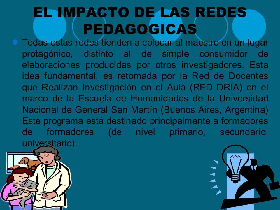 EL IMPACTO DE LAS REDES PEDAGOGICAS