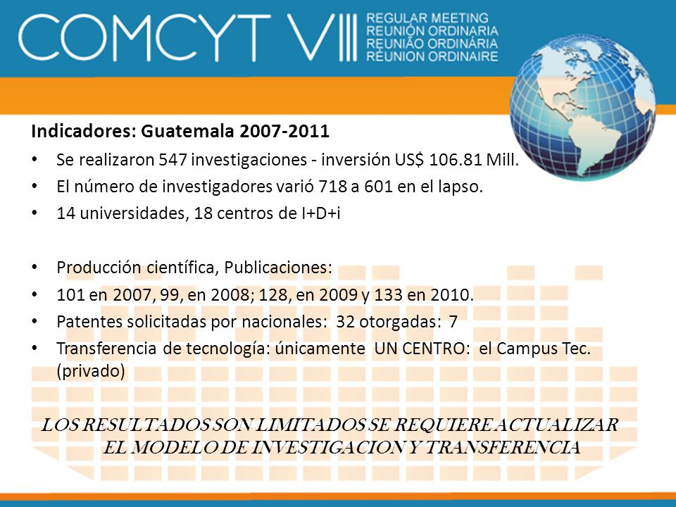 Indicadores: Guatemala 2007-2011