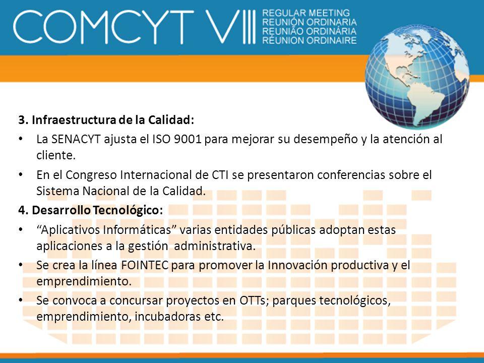 3. Infraestructura de la Calidad: