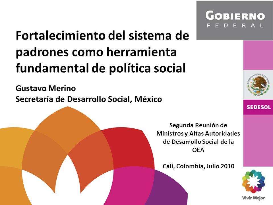 Fortalecimiento del sistema de padrones como herramienta fundamental de política social