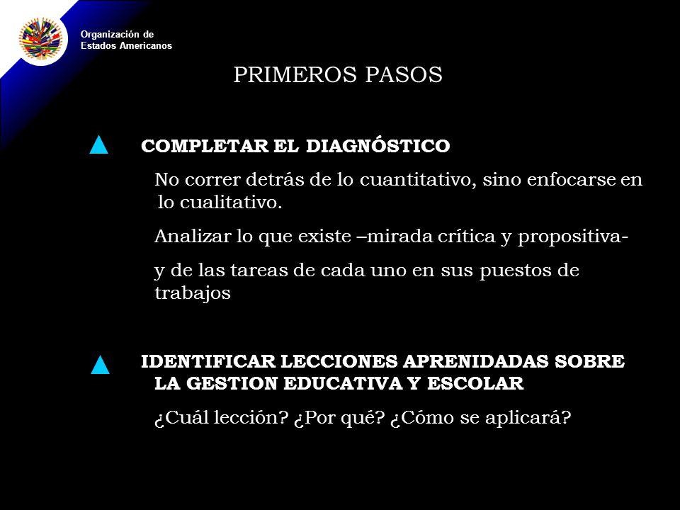 PRIMEROS PASOS COMPLETAR EL DIAGNÓSTICO