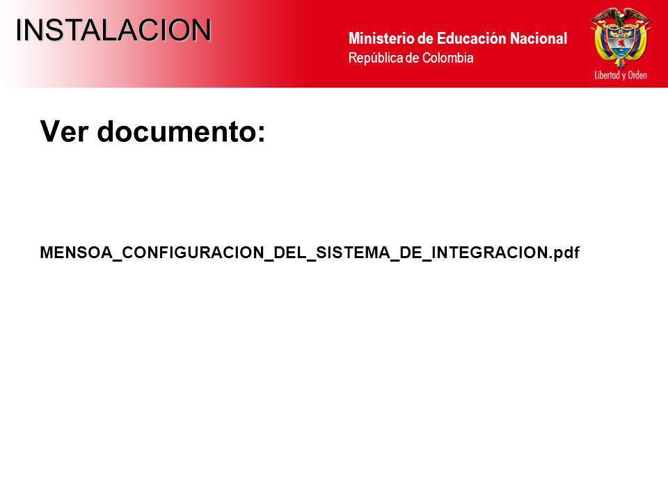 INSTALACION Ver documento: