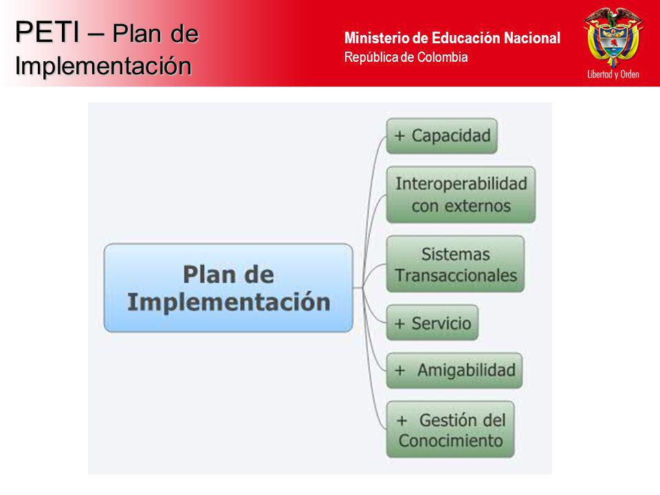 PETI – Plan de Implementación