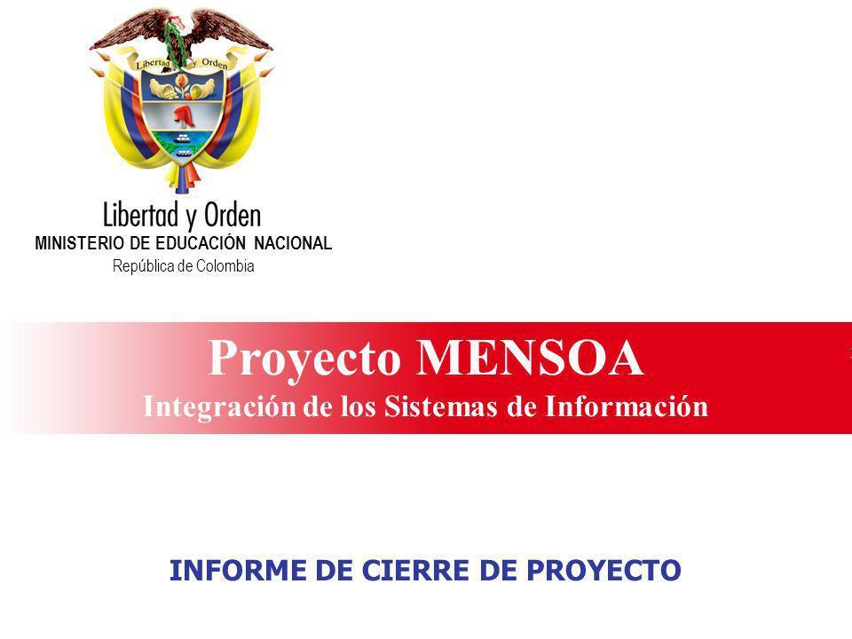 Proyecto MENSOA Integración de los Sistemas de Información