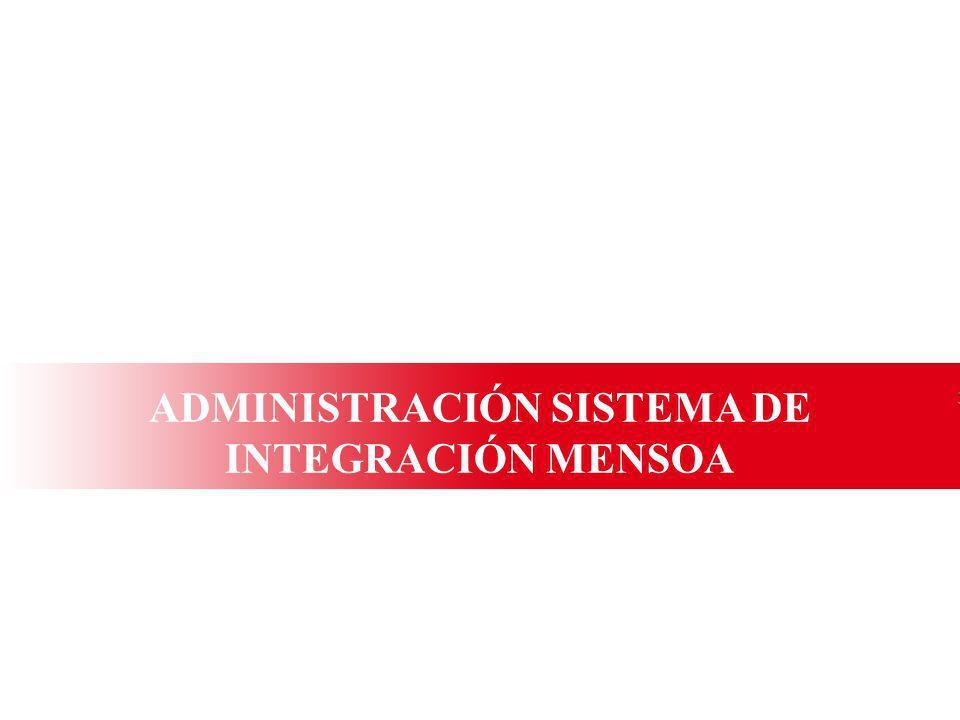 ADMINISTRACIÓN SISTEMA DE INTEGRACIÓN MENSOA
