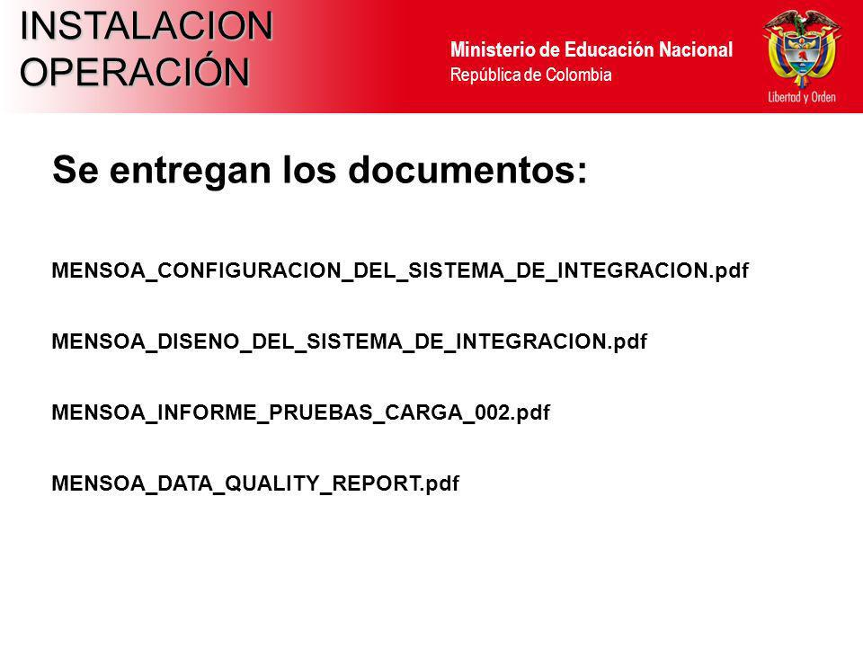 Se entregan los documentos: