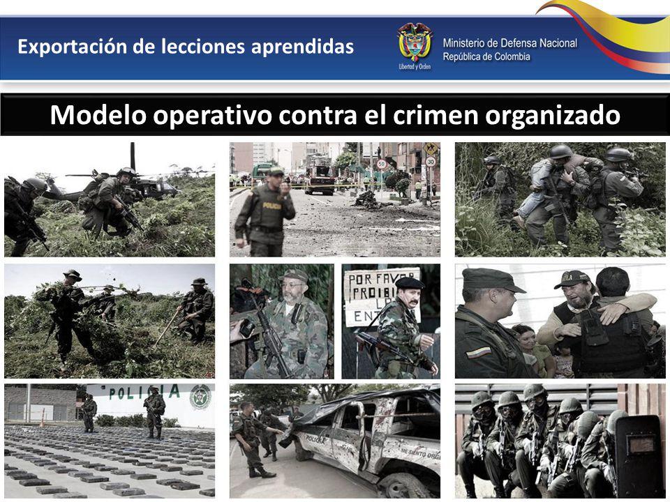 Modelo operativo contra el crimen organizado