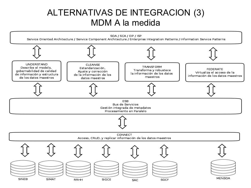 ALTERNATIVAS DE INTEGRACION (3) MDM A la medida