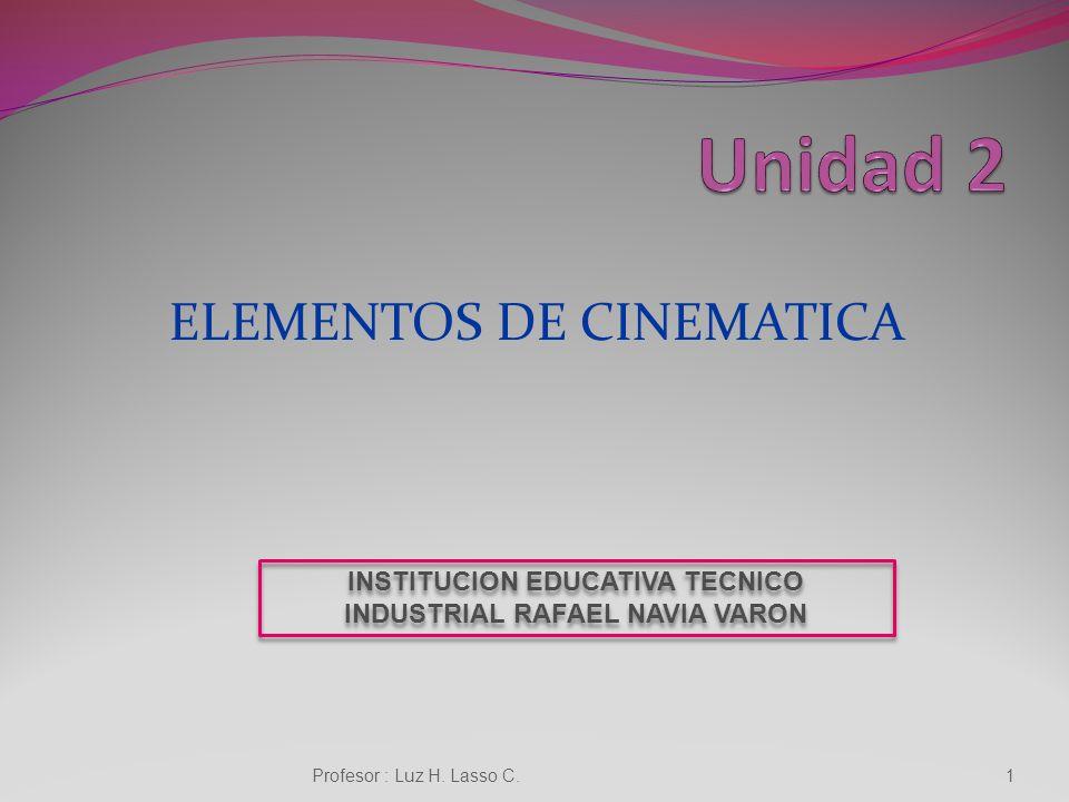 ELEMENTOS DE CINEMATICA