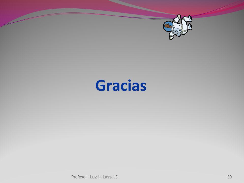 Gracias Profesor : Luz H. Lasso C.