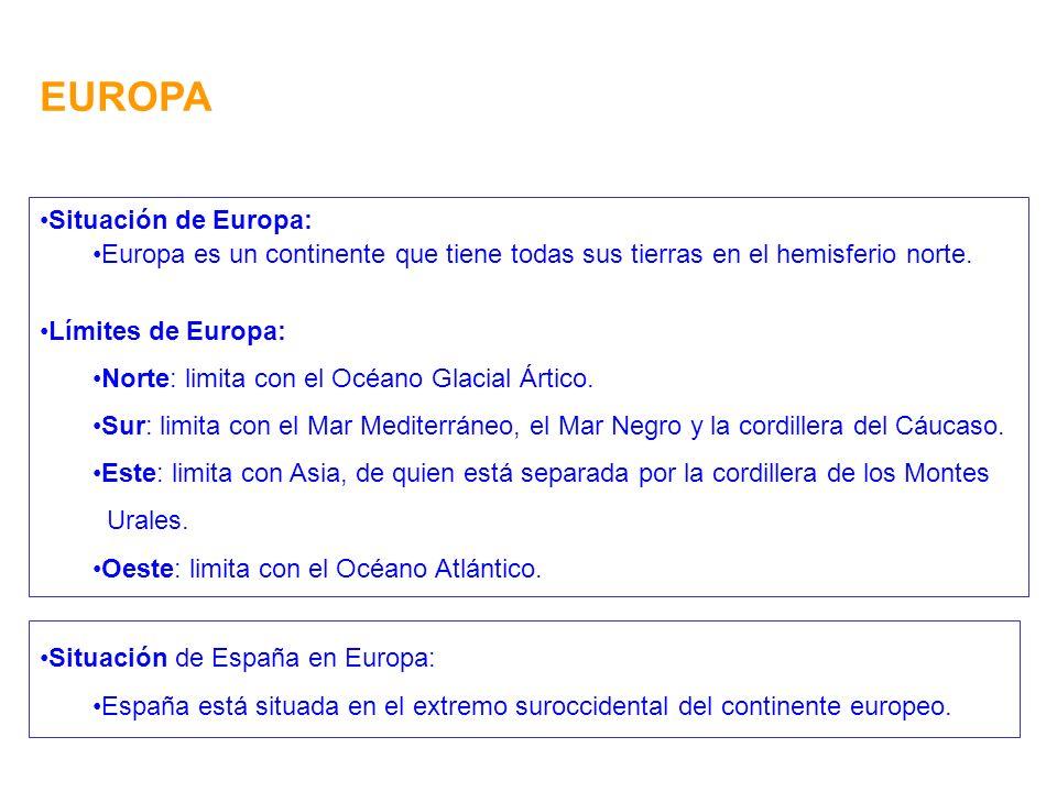 EUROPA Situación de Europa: