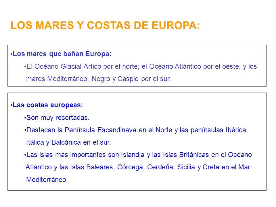 LOS MARES Y COSTAS DE EUROPA: