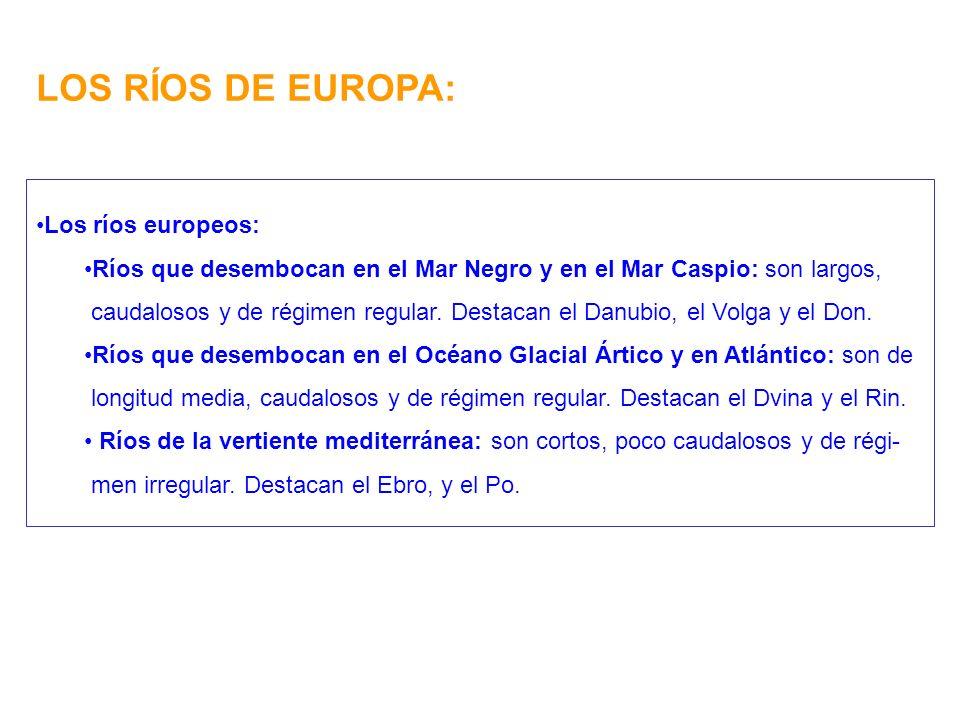 LOS RÍOS DE EUROPA: Los ríos europeos: