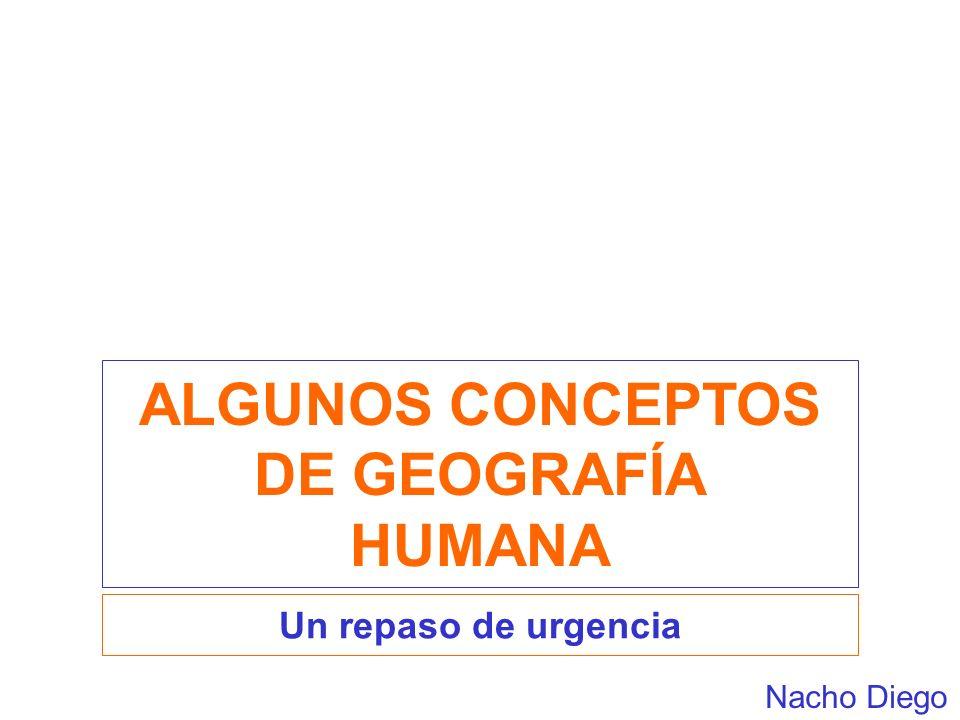 ALGUNOS CONCEPTOS DE GEOGRAFÍA HUMANA