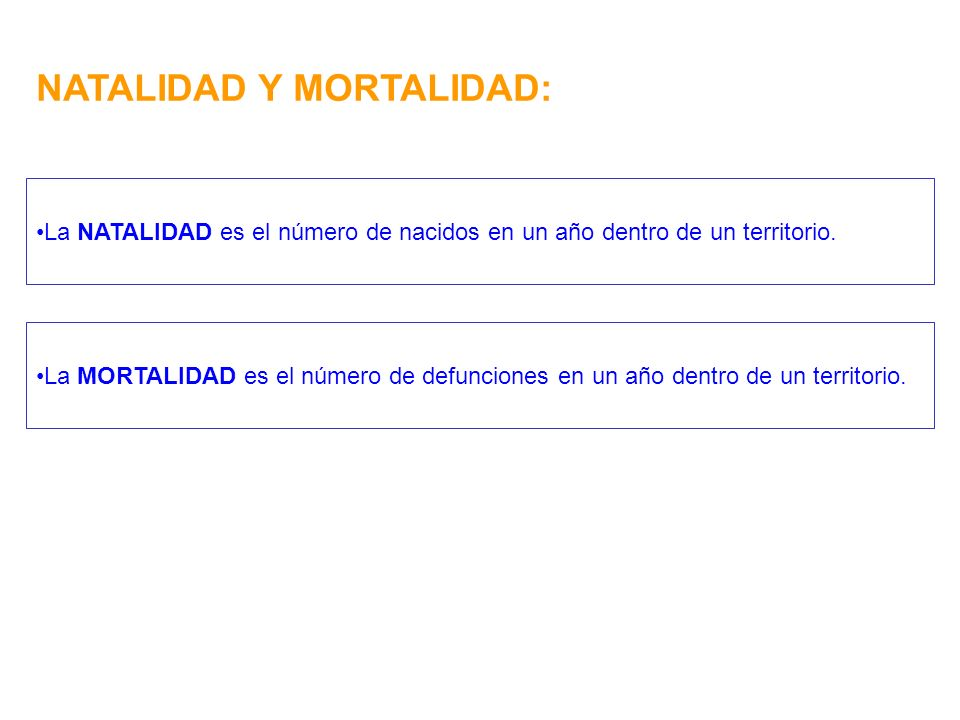 NATALIDAD Y MORTALIDAD: