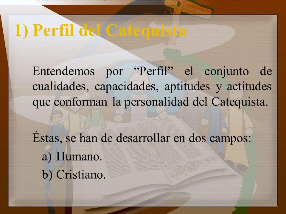 1) Perfil del Catequista