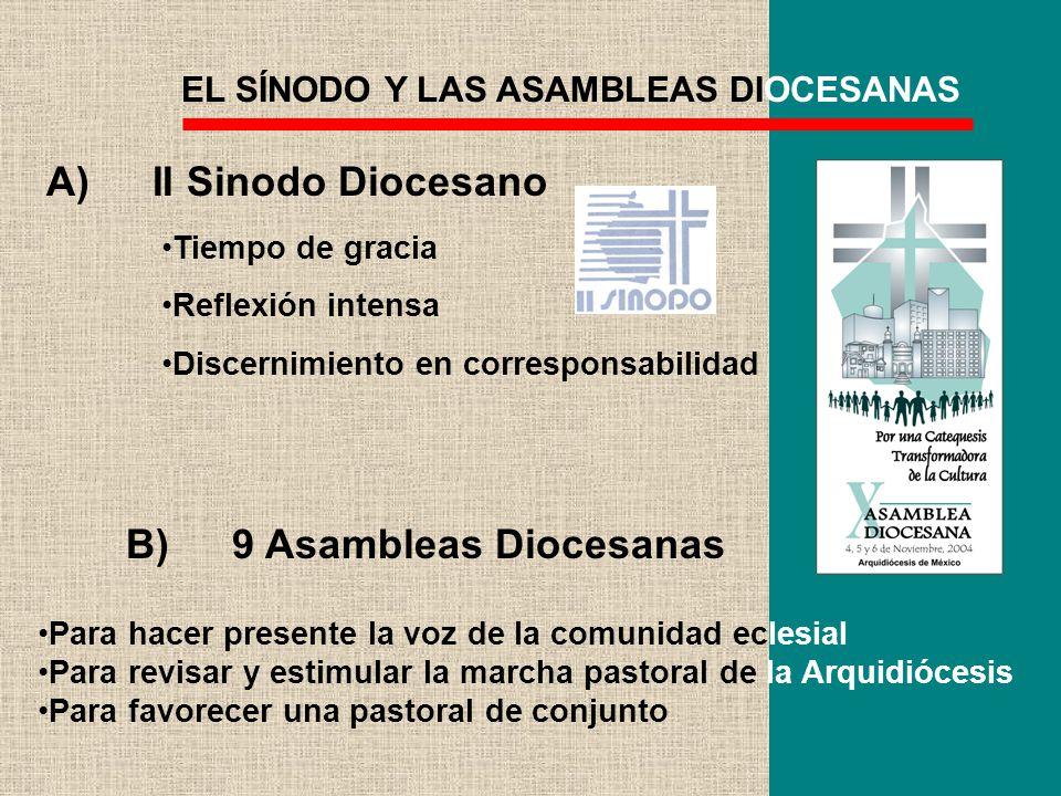 B) 9 Asambleas Diocesanas