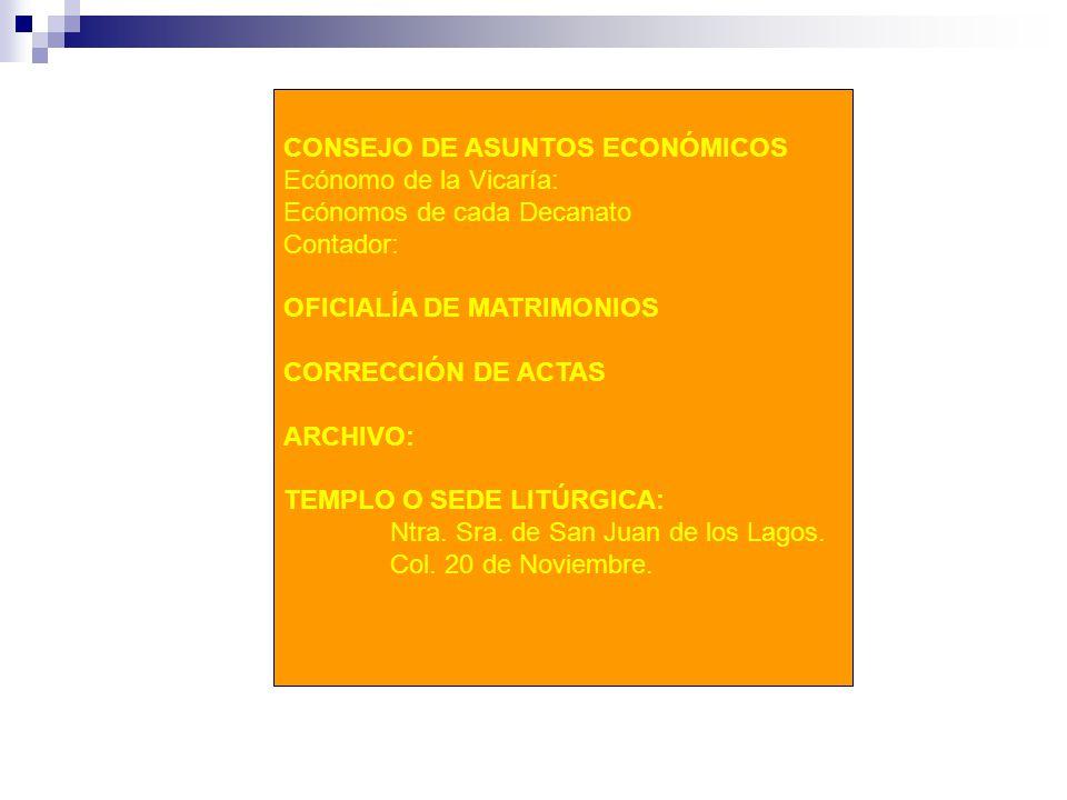 CONSEJO DE ASUNTOS ECONÓMICOS