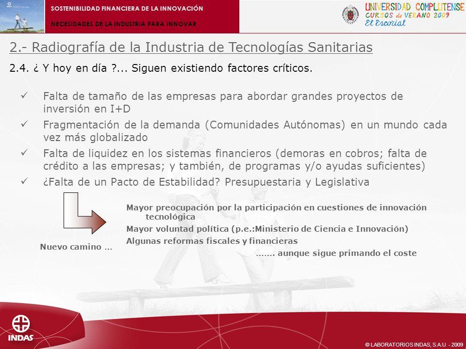 2.- Radiografía de la Industria de Tecnologías Sanitarias