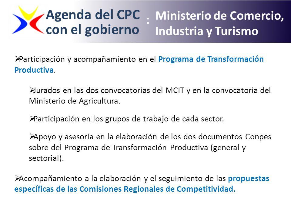 Agenda del CPC con el gobierno