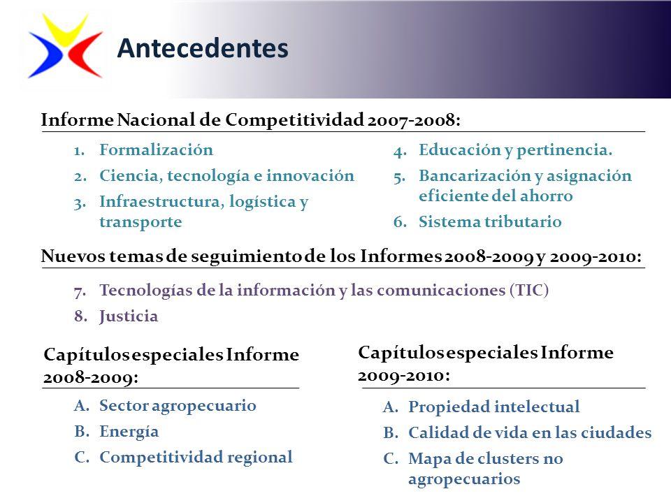 Antecedentes Informe Nacional de Competitividad 2007-2008: