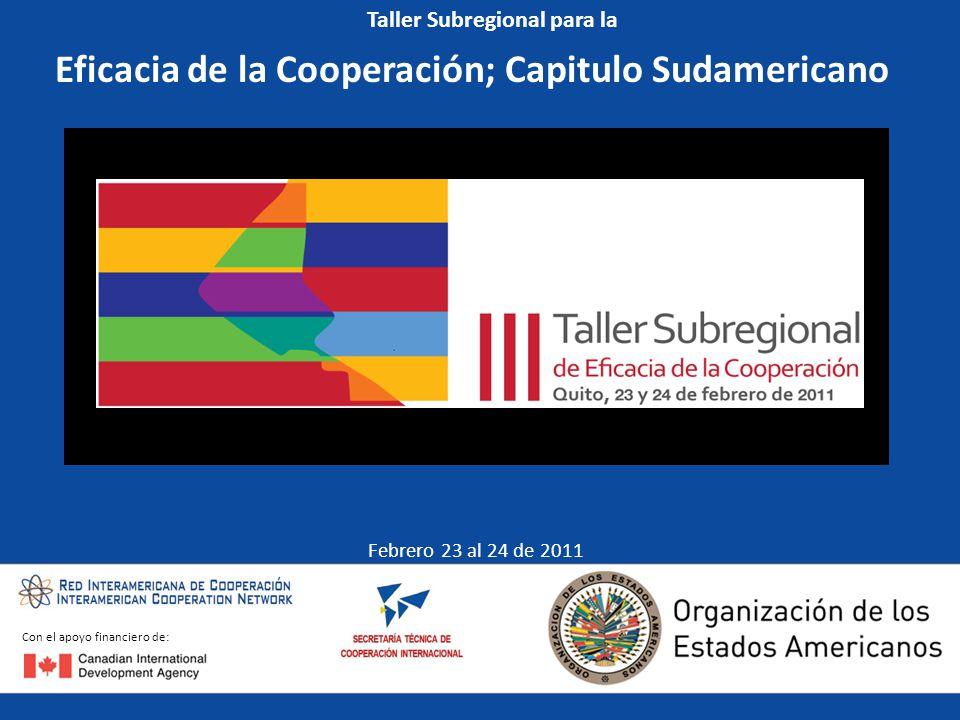 Eficacia de la Cooperación; Capitulo Sudamericano