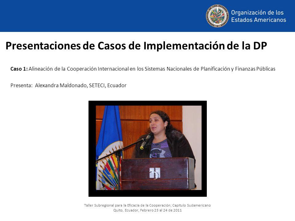 Presentaciones de Casos de Implementación de la DP