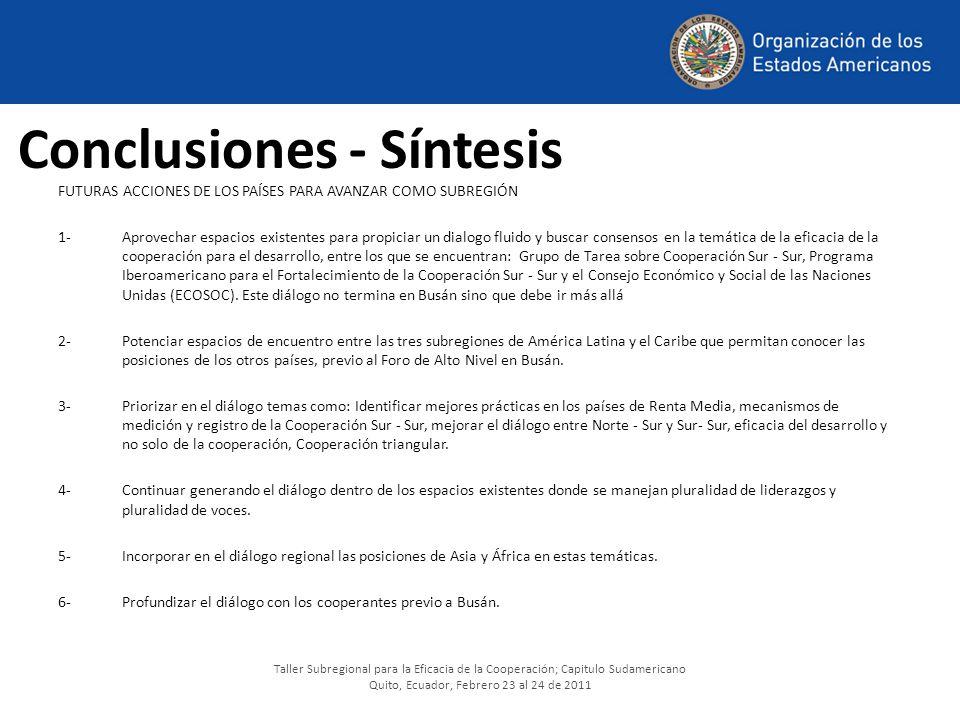 Conclusiones - Síntesis