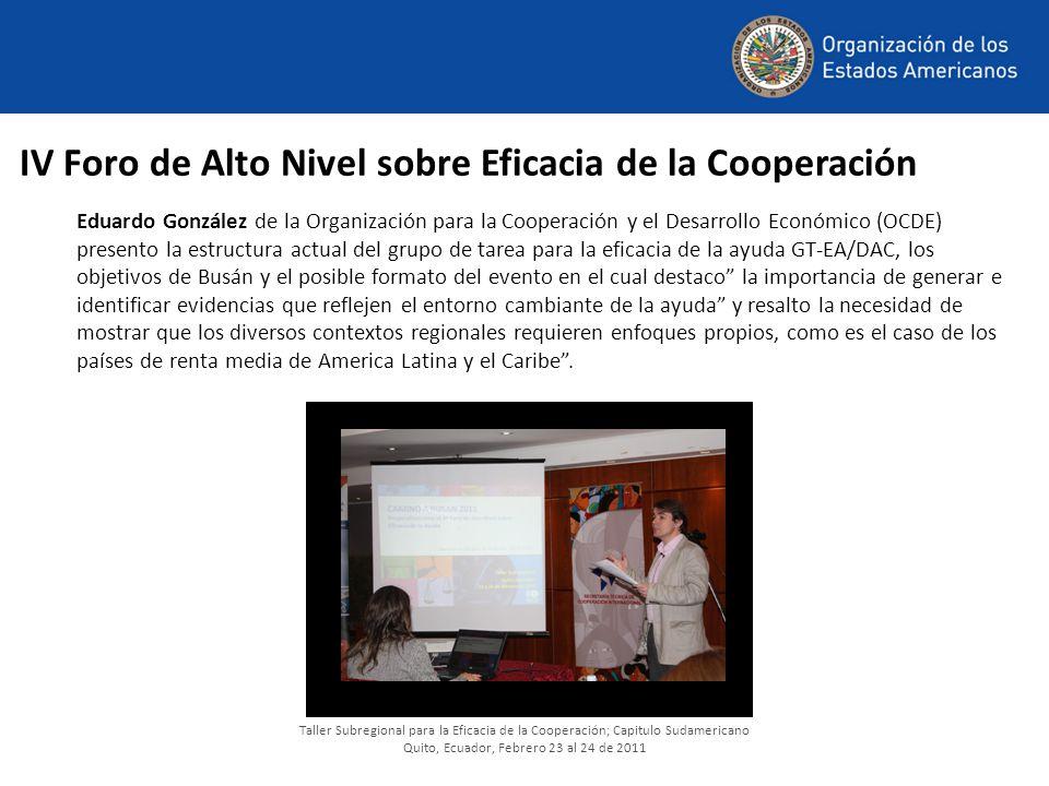 IV Foro de Alto Nivel sobre Eficacia de la Cooperación