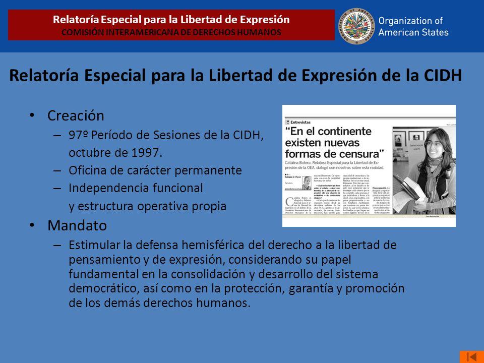 Relatoría Especial para la Libertad de Expresión de la CIDH