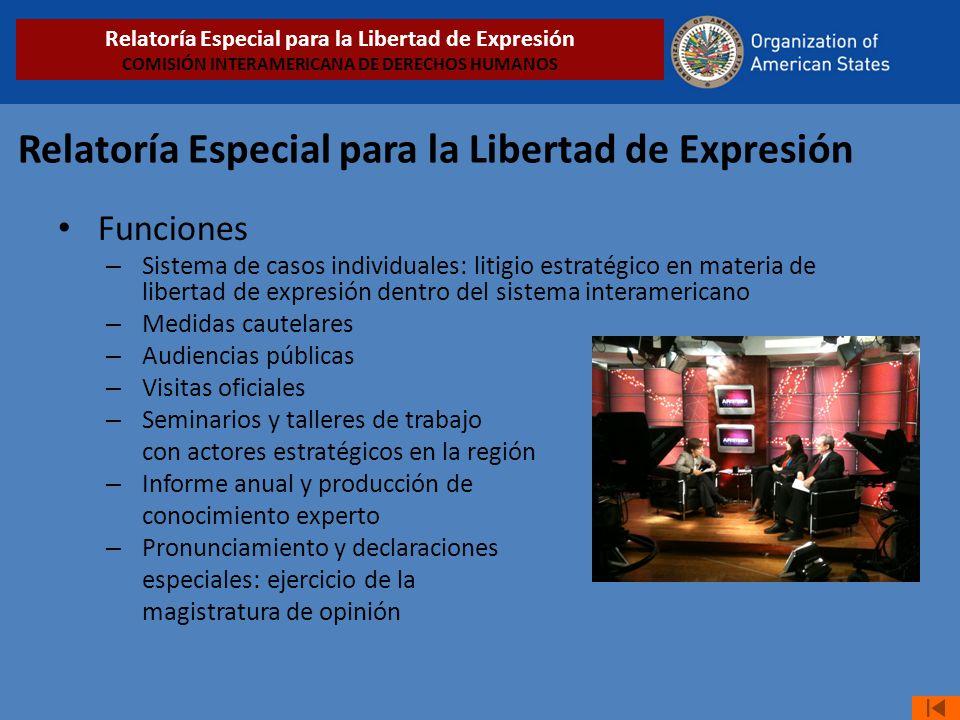 Relatoría Especial para la Libertad de Expresión