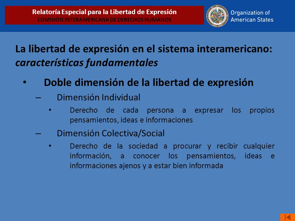 Doble dimensión de la libertad de expresión