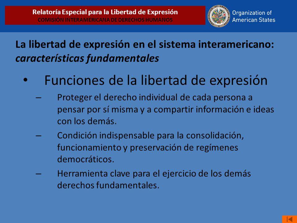 Funciones de la libertad de expresión